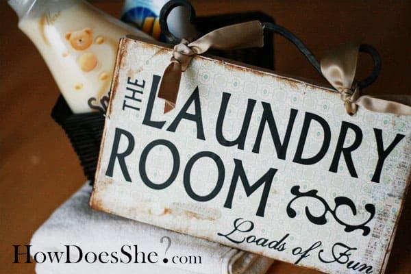 Laundry Vinyl Lettering