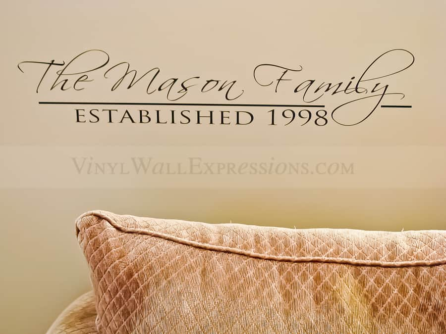 Home And Family Wall Quotes Custom Vinyl Wall Expressions