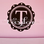 Scalloped Circular Monogram