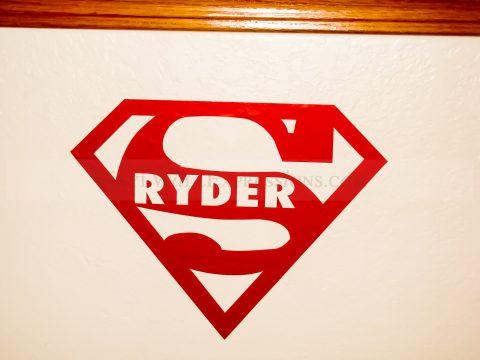 Superman Kids Vinyl Wall Decor-Custom Name