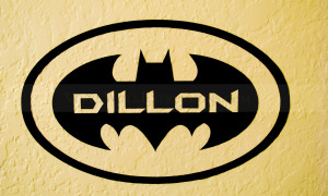 batman symbol wall decor with custom name vinyl wall expressions
