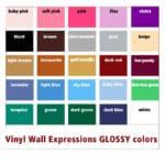 vinyl colors for vinyl wall expressions