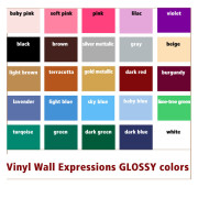 vinyl colors for vinyl wall expressions