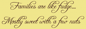 Families Are Like Fudge Vinyl Wall Quote