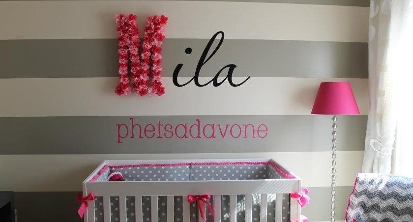 baby nursery vinyl lettering project idea