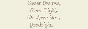 Sleep tight we love you custom wall decal