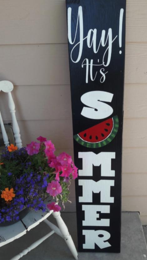 DIY Rustic Summer Porch Sign
