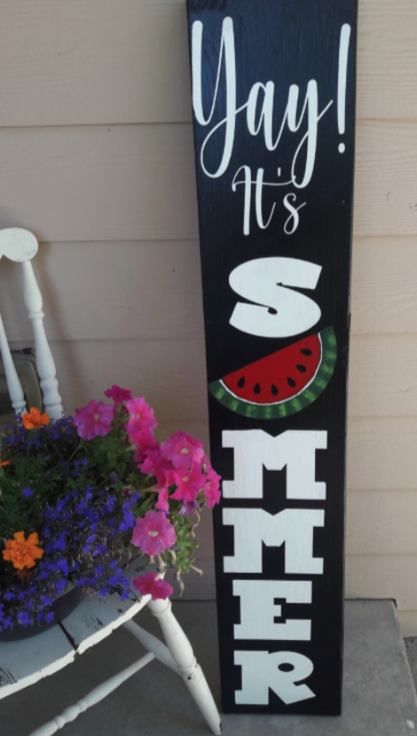 DIY Rustic Summer Porch Sign