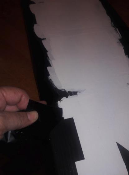 Peeling back the stencil