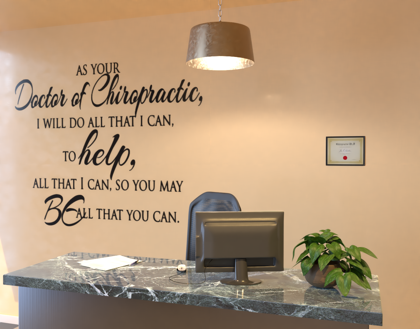 Chiropractic Vinyl Lettering-Custom Vinyl Wall Expressions