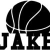 Basketball Personalized Name Wall Decal
