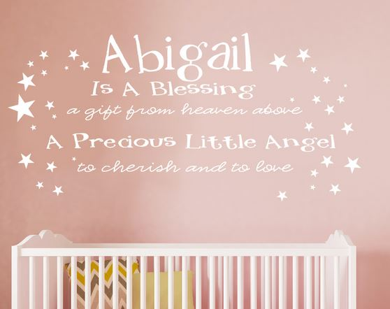 [Name] is a Blessing Personalized Name Wall Decal