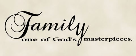 family one of God's masterpieces-vinyl wall quote