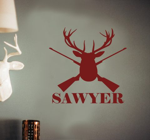 Hunting Custom Name Wall Decal