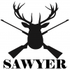 Antlers and Rifles Personalized Name Decal