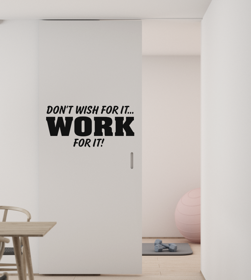 dont wish for it work for it vinyl wall lettering wall decal wall quote office lettering for walls workout gym vinyl lettering m 123