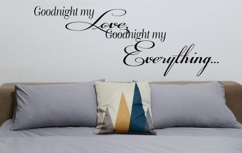 Goodnight my Love, Goodnight my Everything… Romantic vinyl quote