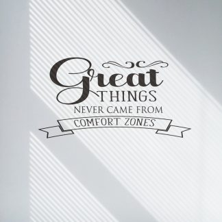 Great Things Never Came From Comfort Zones Motivational Wall Quote Workout Wall Decal Office Letters For Walls Gym Vinyl Wall Lettering-M-124