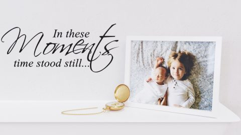 In these moments time stood still - family wall decal