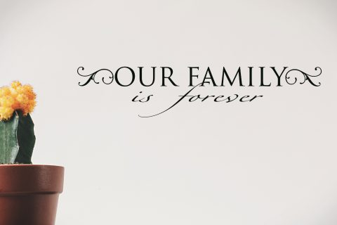 Our Family is Forever Vinyl Wall Quote For Picture Wall Vinyl Lettering Family-F-111