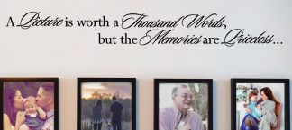 A Picture Is Worth A Thousand Words But Memories Are Priceless Family Wall Quote