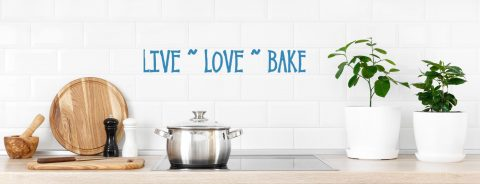 Live Love Bake Kitchen Wall Decal