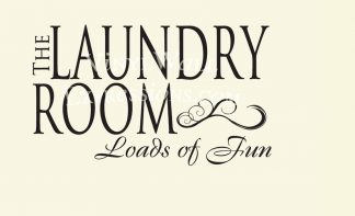 The Laundry Room Loads of Fun Vinyl Wall Lettering Laundry Wall Decal Laundry Wall Transfer-L-111
