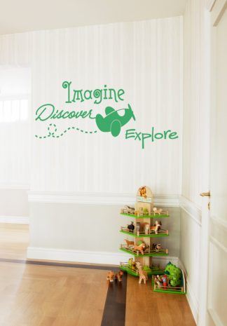 Imagine Discover Explore Kids Wall Decal