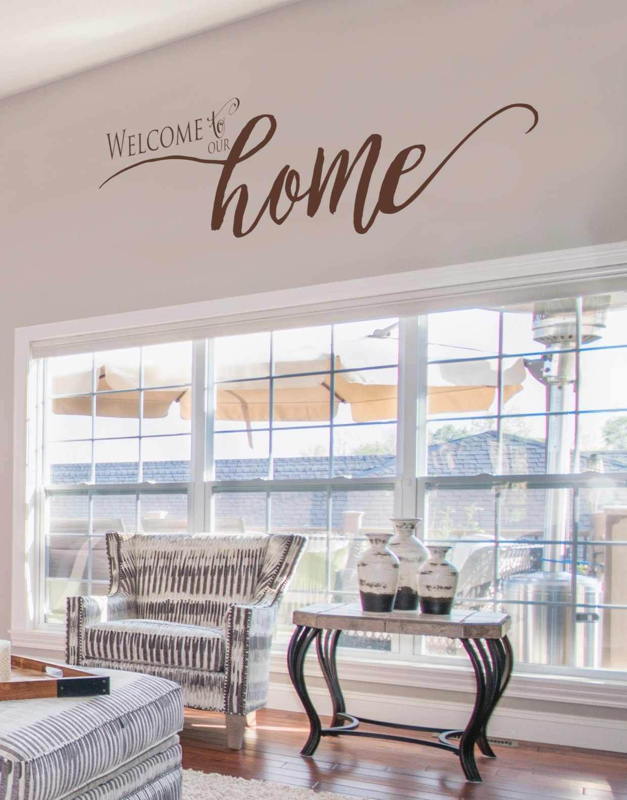 Welcome to Our Home - famiy wall decal