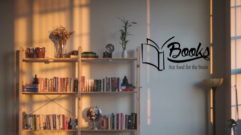 Books Are Food For The Brain School Wall Decal