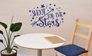 Shoot for the Stars Motivational Wall Quote School Classroom Vinyl Wall Lettering-S-122