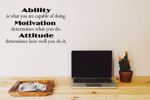 Ability Motivation Attitude Motivational Quote