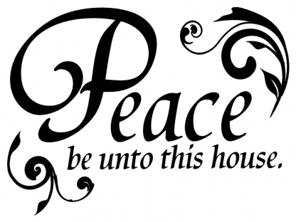 Peace be Unto This House Entryway Wall Decal Wall Lettering Home Quote With Custom Color Choice-H-114
