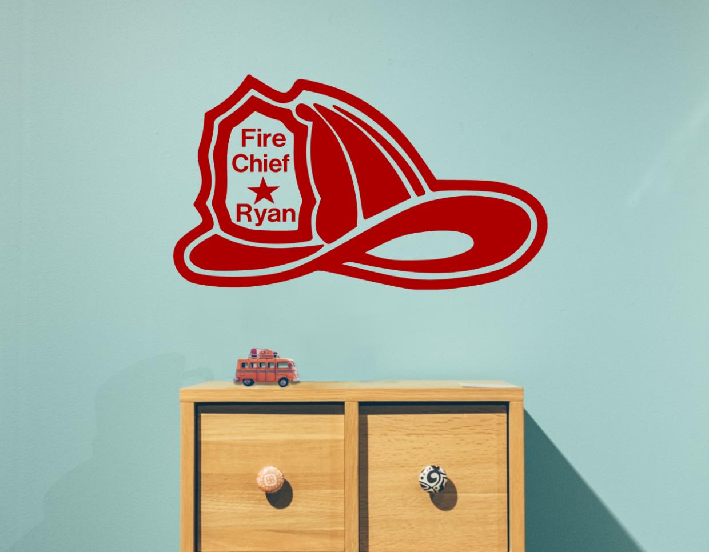 Fire Chief Ryan Custom Name Wall Decal