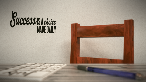 Success is a choice made daily Inspirational Wall Decal