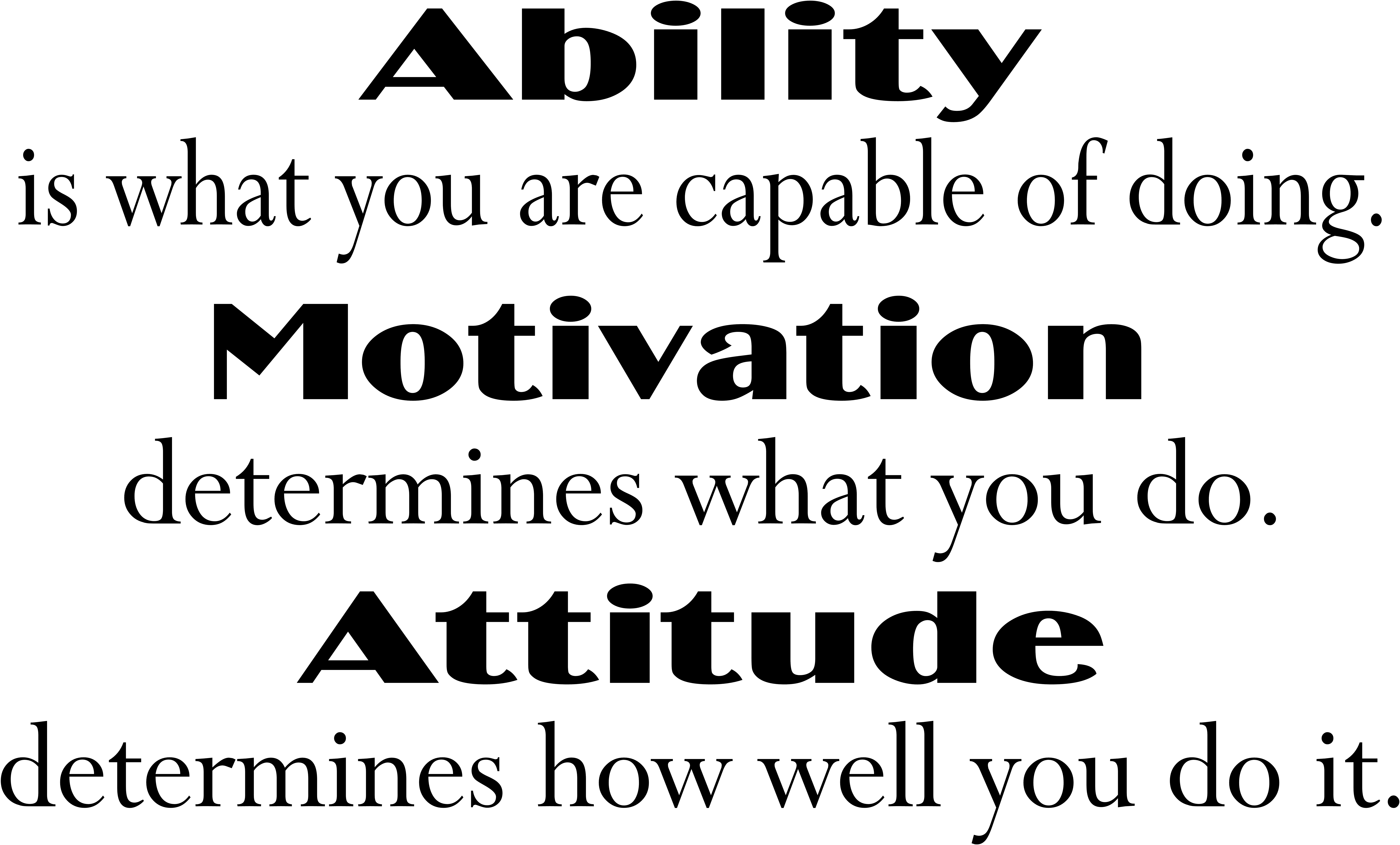 Ability motivation attitude motivational wall quote school wall ability motivation attitude motivational wall quote school wall decal office vinyl wall lettering m110 thecheapjerseys Choice Image