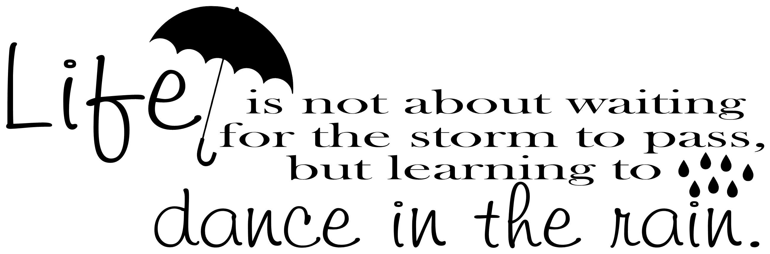 Life Is Not About Waiting For The Storm To Pass But Learning To