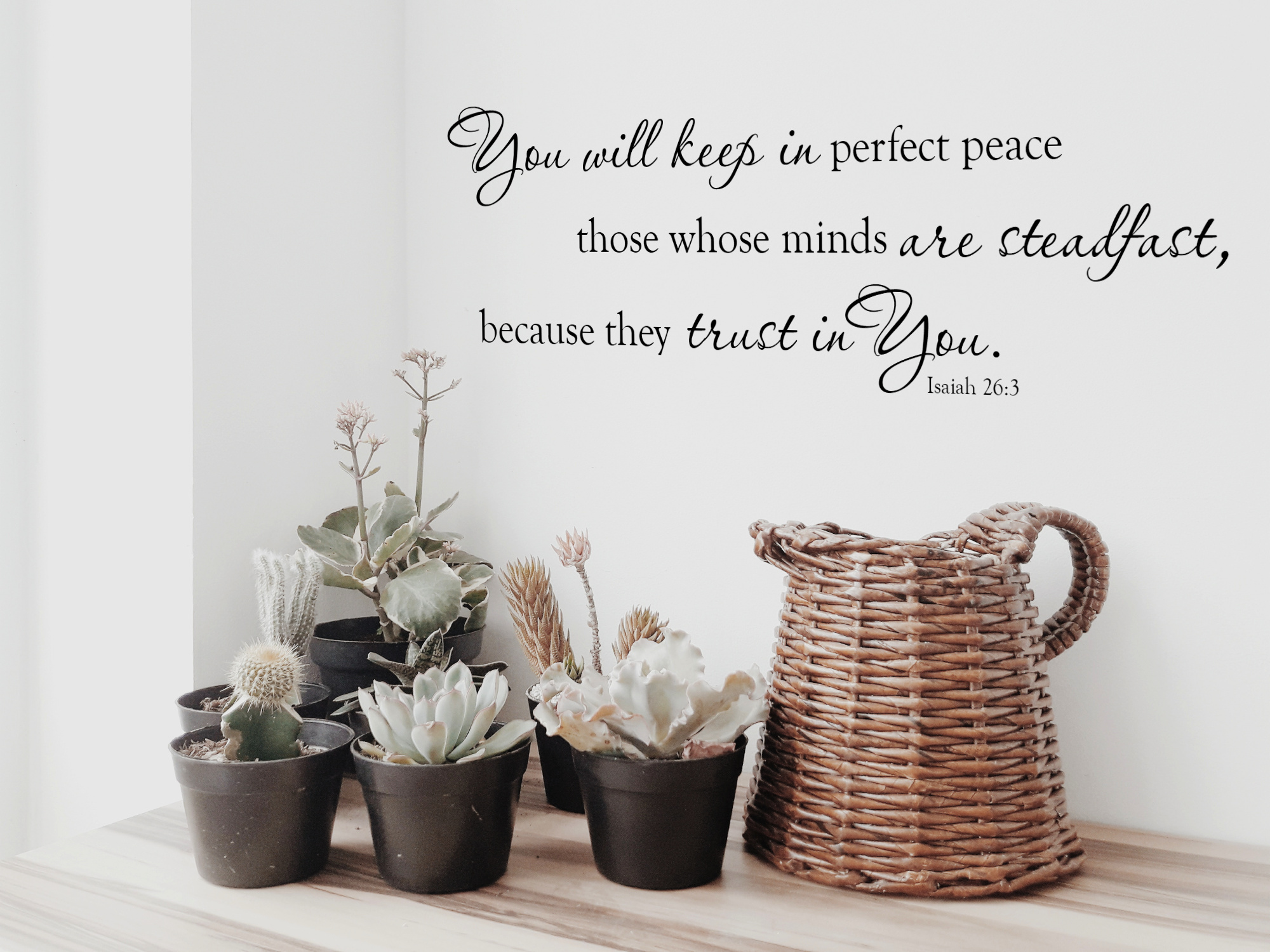 You Will Keep In Perfect Peace Wall Decal Wall Quote Vinyl Wall
