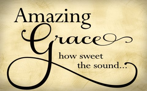 Amazing Grace Religious Wall Quote Wall Decal Vinyl Lettering Church Wall Decal With Custom Color Choice- R-106