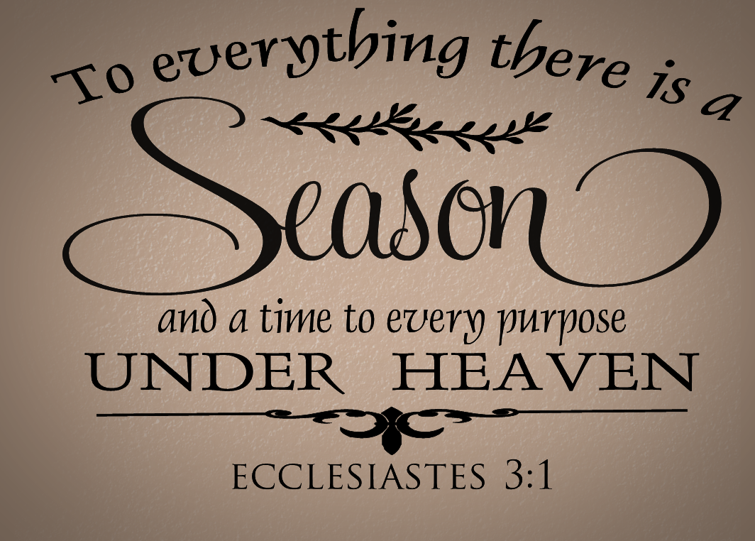 To Everything There is a Season Religious Wall Decal Wall Quote Vinyl Lettering R107