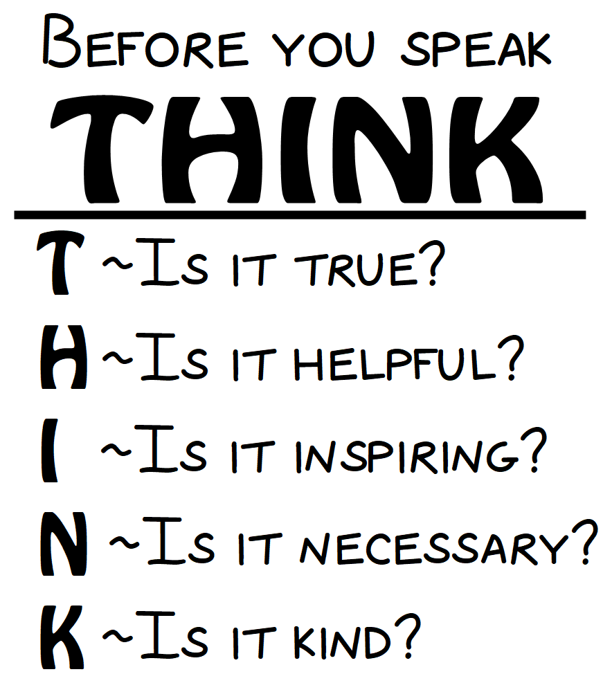 Before You Speak Think School Classroom Motivational Wall Quote Wall