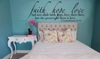 Faith, Hope, Love Scripture Wall Decal