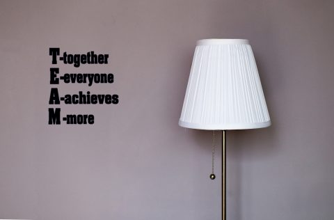 TEAM- Together Everyone Achieves More Inspirational Wall Decal