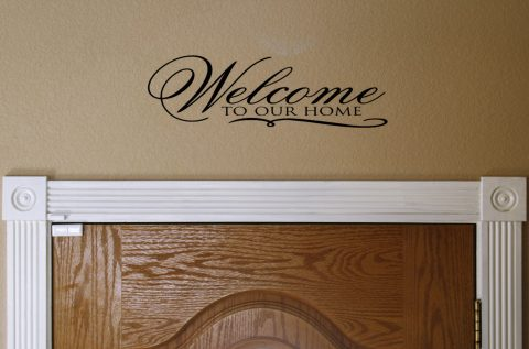 Welcome to Our Home Vinyl Wall Decal Vinyl Lettering for The Home Wall Sticker H-115