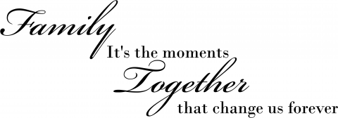 Family It's the moments Together that change us forever Wall Decal With Custom Color Choice Family Vinyl Wall Lettering-F-108