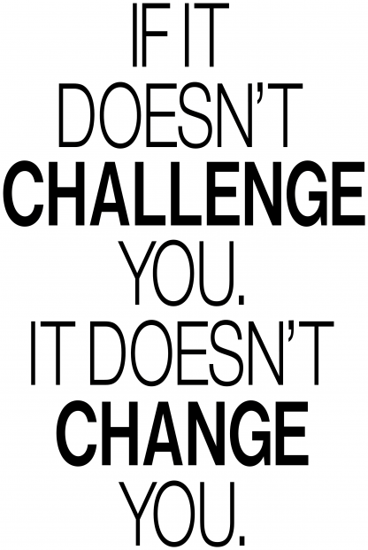 If It Doesn't Challenge You It Doesn't Change You. Wall Quote M-127