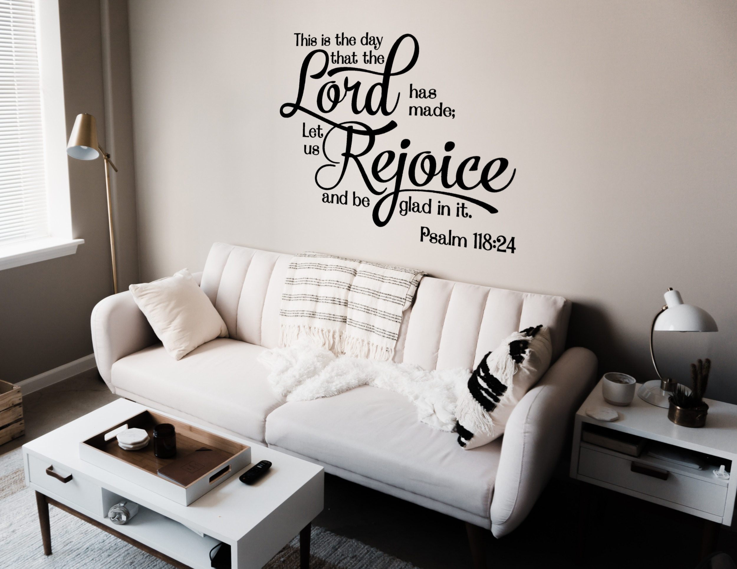 VWAQ This is the Day the Lord Has Made Let Us Rejoice and Be Glad Bible Decal Wall Sticker #2