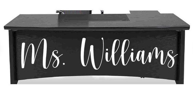 Teacher Name Desk Decal