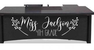 Teacher Name Vinyl Desk Decal