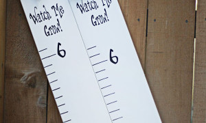 "growth chart in vinyl letters that says ""watch me grow"" and has the numbers 2-6"